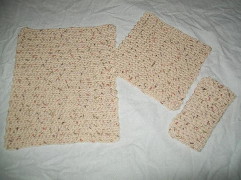 crochet dish towels