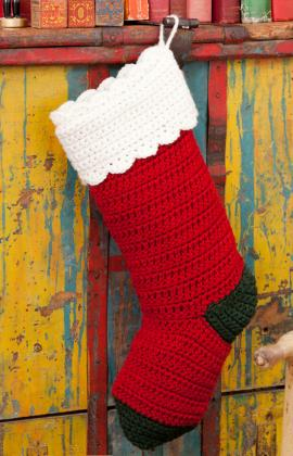 Red Heart Yarn Christmas Stocking