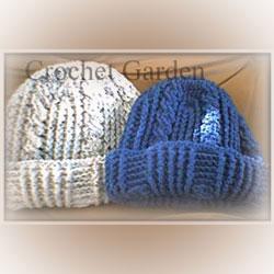 a warm crochet winter hat