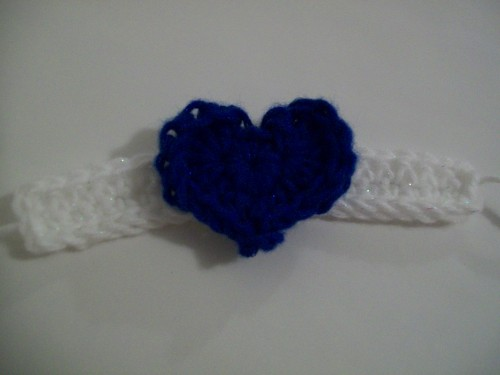 crochet heart bracelet gift valentines day