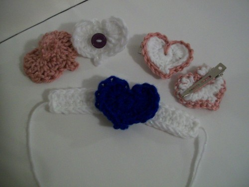 crochet heart gift set collection valentine day