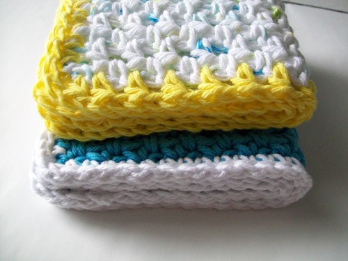 100% cotton crochet washcloth
