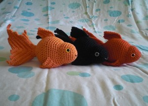 Fancy-gold-fish-crochet-amigurumi