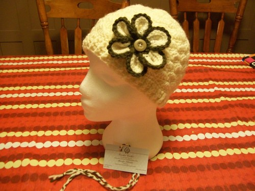 white-crochet-shell-beanie-with-flower