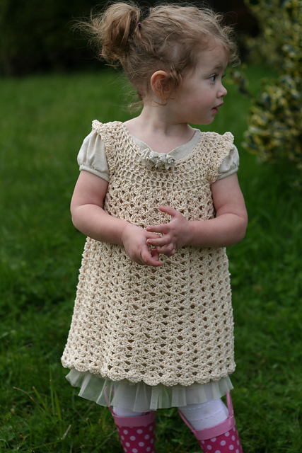 Free Crochet Pattern For Girl Dresses : Top 5 Crochet Dresses You Can Make For Easter Crochet ...