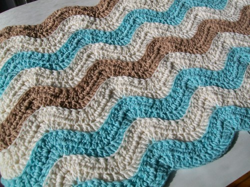 ocean waves baby blanket