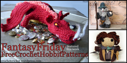 free crochet pattern collection the hobbit lotr