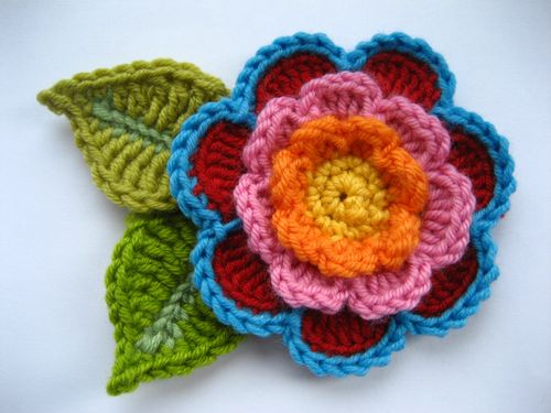 Free Pattern Find: Triple Layer Flower Crochet Cricket