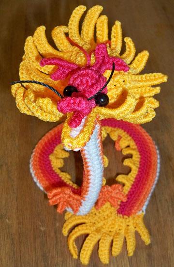 Amigurumi Dragon Free Pattern | Tricot et crochet, Jouets au ... | 551x360