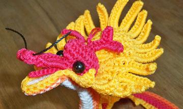 Crochet Chinese Dragon Amigurumi Tutorial & Pattern - Crochet.msa.plus   214x360