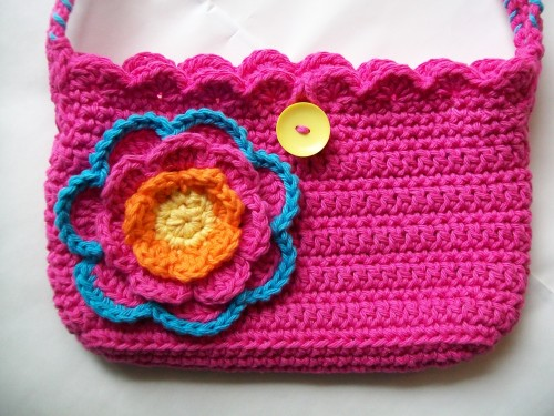 crochet bag Color me pretty purse