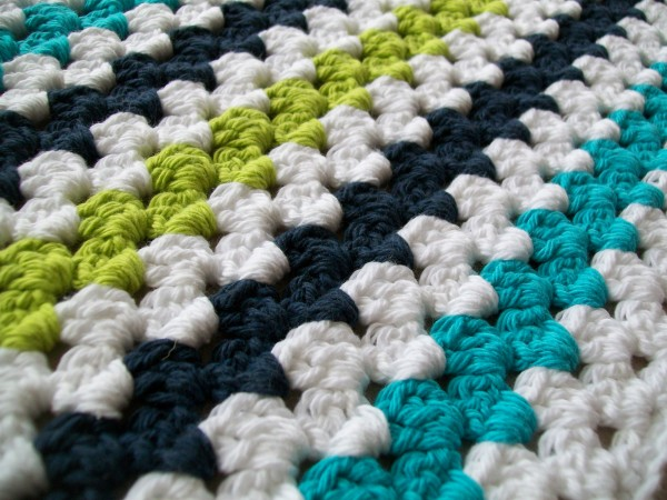 Crochet Granny Stripe Baby Blanket Pattern : Modern Granny Stripe Baby Blanket Crochet Cricket