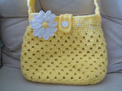 lazy dazy cross body bag with long strape handmade crochet