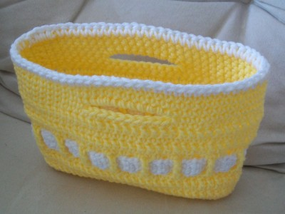crochet bag little lady toy tote