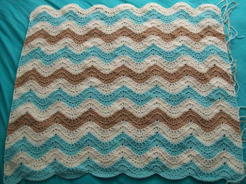 Ocean Waves Afghan 80% finished Crochet Cricket
