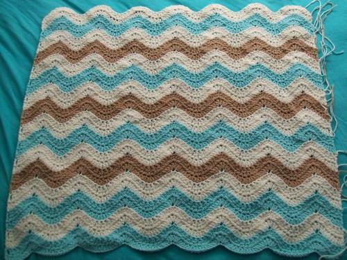 crochet oceanwavesafghan