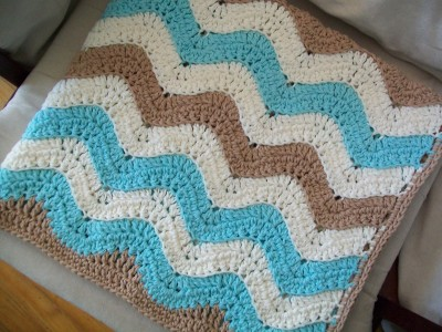 ocean waves baby blanket made by crochet cricket