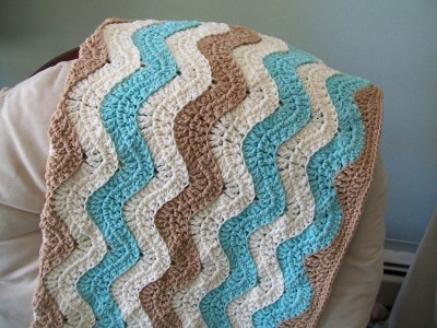 ocean waves baby blanket made by crochet cricket