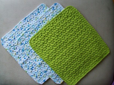 crochet spa washcloth