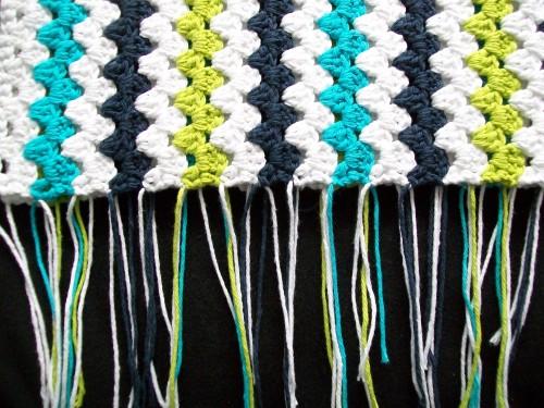 Mod Baby Stripe Blanket Crochet